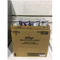Case of Kellog's Frosted Flakes Cereal Cups (4 x 660g)