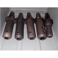 (5) CAT40 Command End Mill Holders