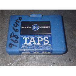 6 pcs set HANSON WHITNEY 9/16-12 Taps
