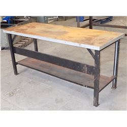 "72"" x 28"" x 34"" Tall Steel Work Bench"