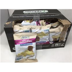 case of 23g individual bags of Simply 7 quinoa chips