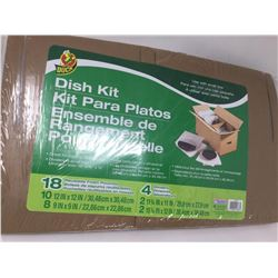 lot of 1x Dish kit, 18 reusable pouches