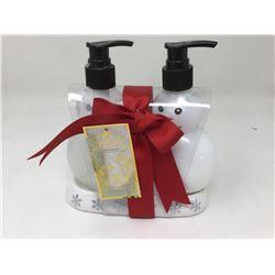 lot of 2x white snowman bathroom soap