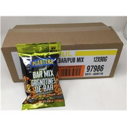 case of 12x90g Planters bar mix nuts