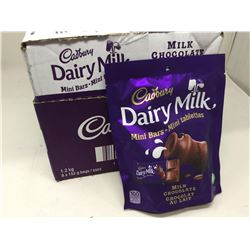 case of 8x152g Cadbury Dairy Milk, milk chocolate mini bars