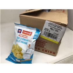 case of 12x66g Circle K salt and vinegar chips