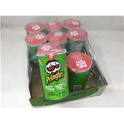 case of 9x68g Pringles mini cans, sour cream and onion