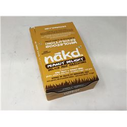 case of 35g each nākd. peanut delight flavored bars