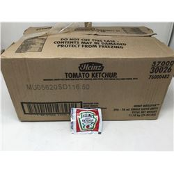 case of 396x26mL individual Heinz ketchup packets