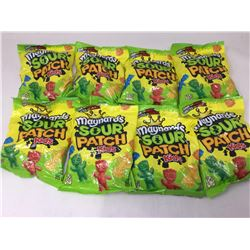 lot of 8x185g Maynards sour patch kids candy