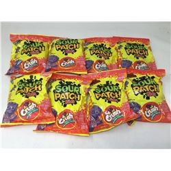 lot of 8x185g sour patch kids, crush fruit mix flavored