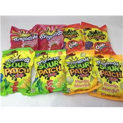lot of 8x185g Maynards (sour patch kids, sour patch kids mango, Swedish berries, crush fruit mix sou