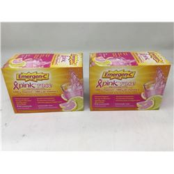 lot of 2x30 bags Emergen-C pink lemonade vitamin C drink mix