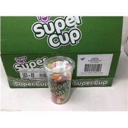 case of 12x370g sour super mix candy cups