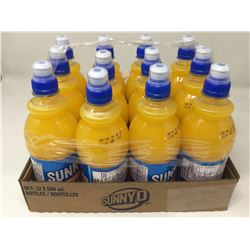 case of 12x500mL Sunny D bottles