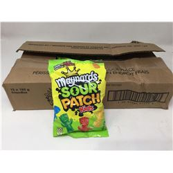 case of 12x185g Maynards sour patch kids candy