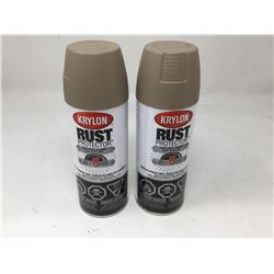 lot of 2x340g Krylon rust protector, light brown color
