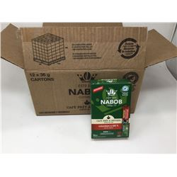 case of12x36g Nabob coffee sacs