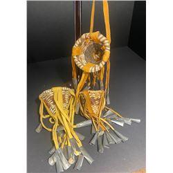 3-Miniature Apache Burden Baskets