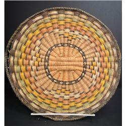 """Hopi Polychrome Wicker Plaque measuring 10"""""""