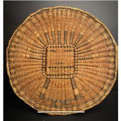 Antique Hopi Wicker Kachina Plaque Circa 1910
