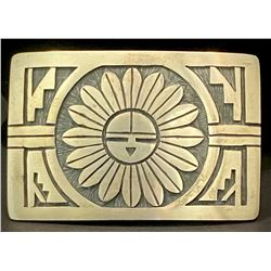Hopi Sunface Belt Buckle by Julian Fred
