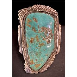 Large Blue Gem Turquoise Bracelet