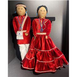 Pair of Navajo 22�� Dolls