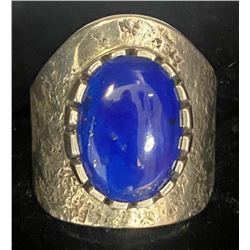 Vernon Begaye, Navajo Lapis Sterling Ring