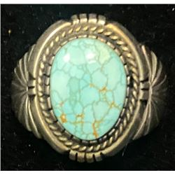 Darrel Victor, Navajo #8 Turquoise Ring