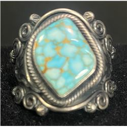Gary Reeves, Navajo #8 Spiderweb Turquoise Ring