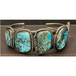 5 Stone Morenci Turquoise Bracelet