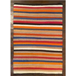 Circa 1900 Rare Navajo Banded Rug