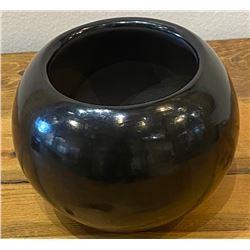 "Birdell Bourdon, ""Vine Flower"", Gun Metal Black Jar."