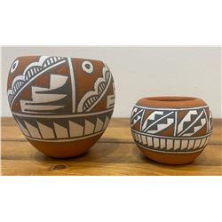 Two Pots by renowned Jemez Potter Mary Small