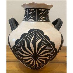 Acoma Two Handle Vase by M. Patricio