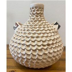 Beautiful Hand Coiled Corrugated Acoma Vase by JM Shutiva.