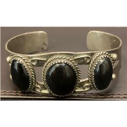 Fred Harvey Style Bracelet with Onyx Stone circa 1940.
