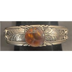 Fire Agate with very nice Silverwork Bracelet