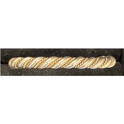 Gold Overlay Rope Bracelet