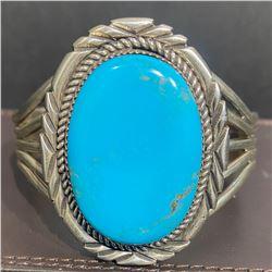 Ervin Tsosie Sleeping Beauty Turquoise Bracelet