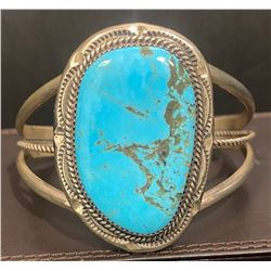 Signed Sleeping Beauty Turquoise Bracelet