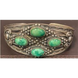 Out of Skip Maisel's Indian Shop in Albuquerque a Fred Harvey Style Bracelet Cuff