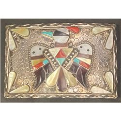 Peyote Bird Buckle by Bobby & Corraine Shack, Navajo Artists