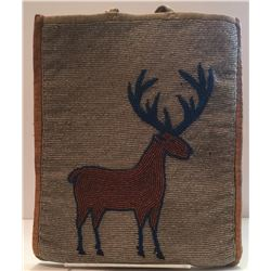 Early 1900's Beaded Deer Plateau Bag