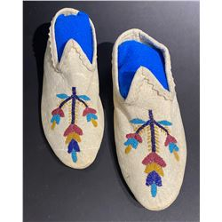 Pair of Circa 1900 Santee Sioux Slippers