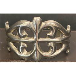 Silver Sand Cast Bracelet