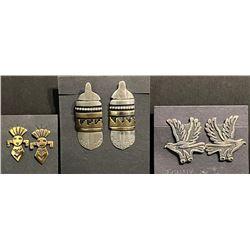 Tommy Singer Navajo Artist Post Earrings 3 pairs