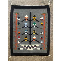 Navajo Weaving of the Tree of Life with 18-birds