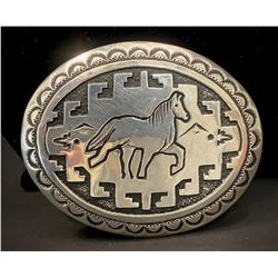 Tommy Singer Navajo Sterling Silver Buckle